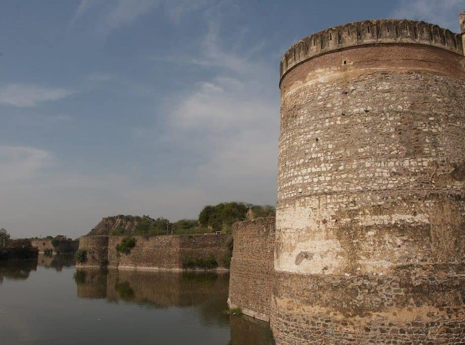 Front View of Lohagarh Fort in Bharatpur District, Rajasthan