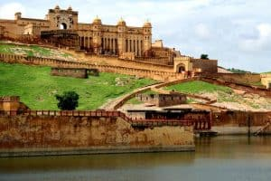 View of Amber Fort Jaipur City in Rajasthan