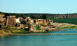 View of Gagron Fort, Jhalawar City in Rajasthan, India