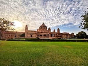 Front View of Umaid Bhawan Palace in Jodhpur